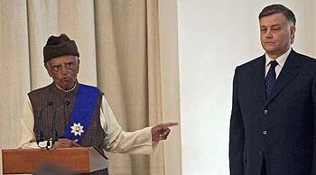 Президент Абдул Калам и Владимир Якунин. Фото ИД КоммерсантЪ