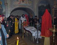 Панихида по новопреставленному Александру в Соборе в честь Рождества Христова (г. Ковров).
