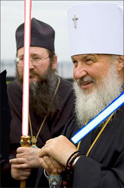 епископ Диомид и митр. Кирилл