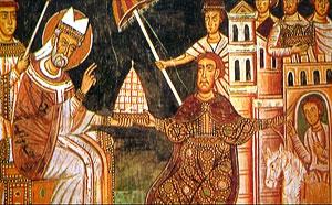 Папа принимает Императора