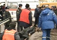 """У метро """"Автозаводская"""" 6 февраля 2004 года. Фото НТВ"""