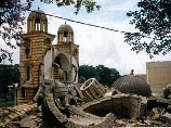 Разрушенный храм в Сербии