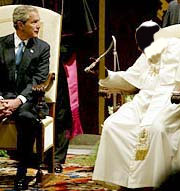 Буш и будущий понтифик Рима