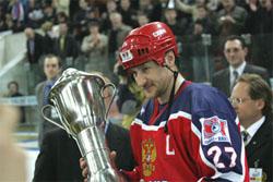 Алексей Ковалев, капитан сборной России по хоккею