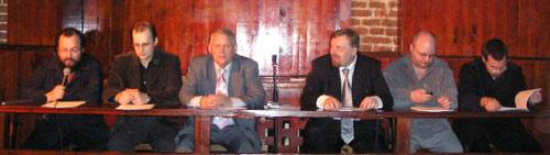 Слева направо: С. Белковский, М. Ремизов, Ю. Солозобов, Е. Холмогоров, К. Крылов, М. Голованов