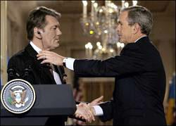 Дж. Буш и В. Ющенко