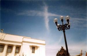 Крест составился из облаков