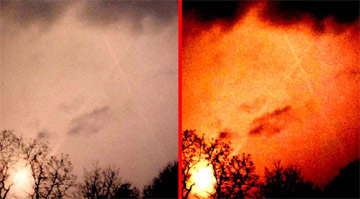 Явление Андреевского креста на небе