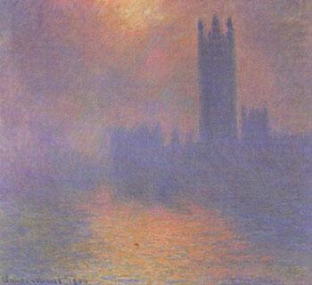 Клод Моне. Лондон. Парламент. Солнце в тумане