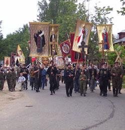 Крестный ход, организованный Союзом Православных Братств и Союзом Православных Хоругвеносцев