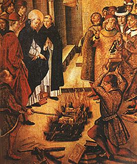 Публичное сожжение книг в Средневековье