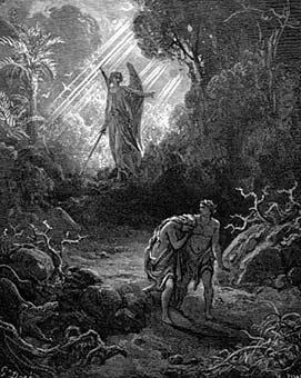 Гюстав Доре. Изгнание Адама и Евы из рая
