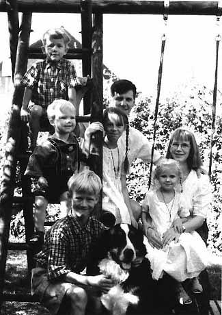 Франк Реннике с семьей