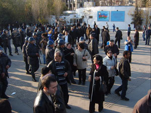 Оранжевый митинг в Баку 18 декабря 2005 г.