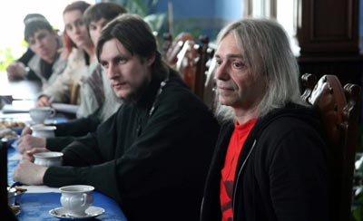 Отец Виктор Горбач и Константин Кинчев
