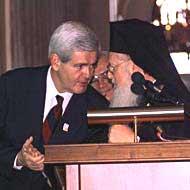 Патриарх Варфоломей на церемонии получения Золотой медали Конгресса США