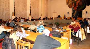 лекция Холмогорова в зале заседаний Ученого совета РГГУ